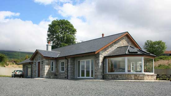 One off rural dwelling using local stone and natural slate